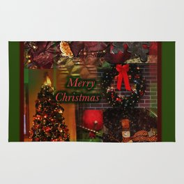 The Christmas collage merry christmas Rug