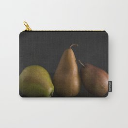 Still LIfe of Fresh Pears on a Dark Surface Carry-All Pouch