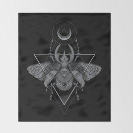 Occult Beetle Throw Blanket