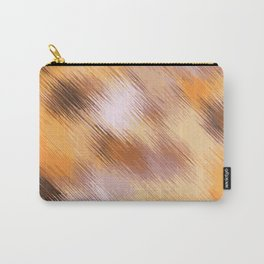 brown orange and black painting texture abstract background Carry-All Pouch