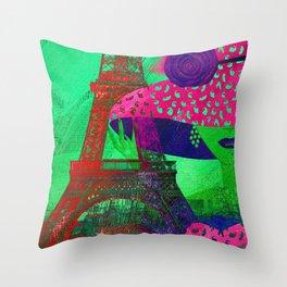 Mademoiselle Paris Throw Pillow
