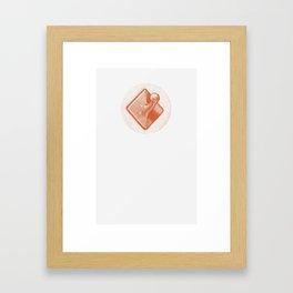 Coat Hook Framed Art Print