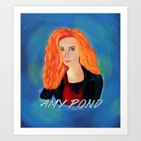 amy pond Art Prints featuring Amy Pond by STATE OF GRACCE