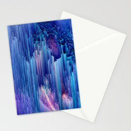 Beglitched Waterfall - Abstract Pixel Art Stationery Cards