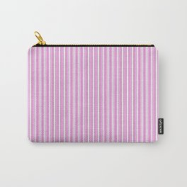 Classic Small Pink Fuchsia Pastel Pink French Mattress Ticking Double Stripes Carry-All Pouch