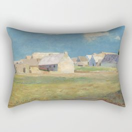 Odilon Redon - Breton Village Rectangular Pillow