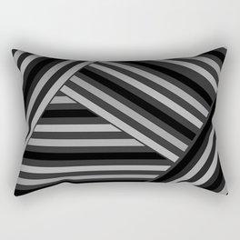 Gray -black stripes Rectangular Pillow