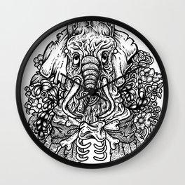 Ink Elephant Wall Clock