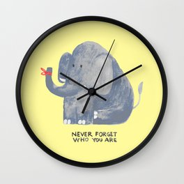 Elephant never forgets Wall Clock