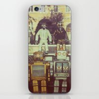robots iPhone & iPod Skins featuring Robots by GF Fine Art Photography