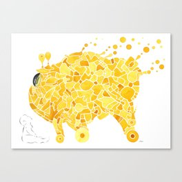Yellow Creature and Child Canvas Print