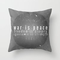 1984 Throw Pillows featuring 1984 by Gianne DJ