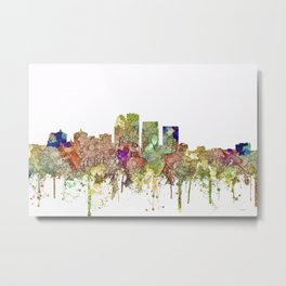 Louisville, Kentucky Skyline - Faded Glory Metal Print