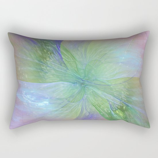 Mystic Warmth Abstract Fractal Rectangular Pillow