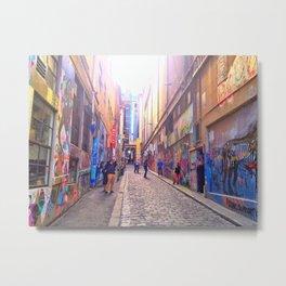 Alleyways of Melbourne, Australia Metal Print