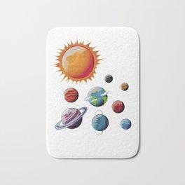 Planets Orbits Sun Moon Earth Galaxy Space Nerds Bath Mat