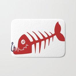 Pirate Bad Fish red- pezcado Bath Mat