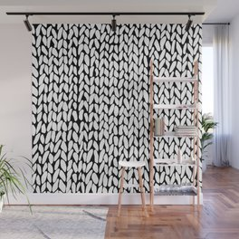 Hand Knitted Loops Wall Mural