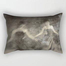 Dance in smoke Rectangular Pillow