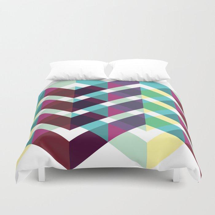 Geometric Pattern #4 (Zig Zag) Duvet Cover