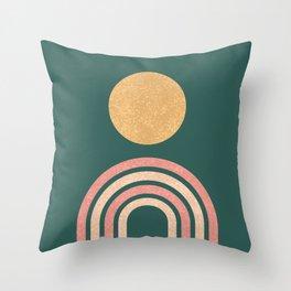 Mid century modern - green Throw Pillow