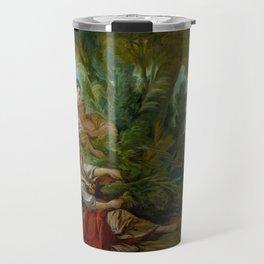 """François Boucher """"L'Appeau (also known as L'Oiseau pris dans les filets)"""" Travel Mug"""