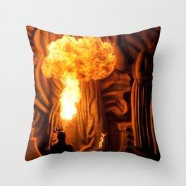 Fire spitter at night Throw Pillow