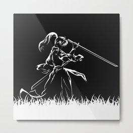 Samurai Kenshin Himura Metal Print