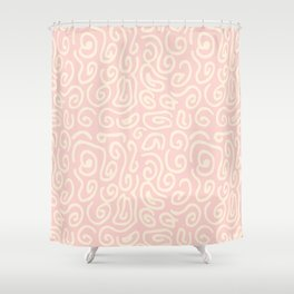 Abstract pastel pink ivory geometrical swirls pattern Shower Curtain