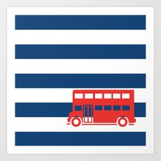British Double Decker Bus Art Print