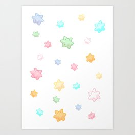Animal star fragment pattern Art Print