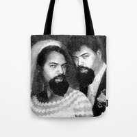 chad wys Tote Bags featuring chad and chad by Chad M. White