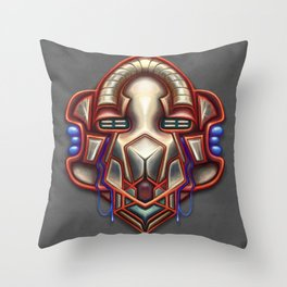 Summer Totem Red Throw Pillow
