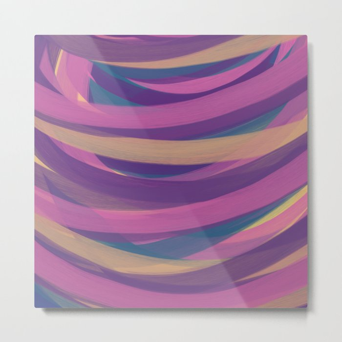 Candy Strokes Metal Print