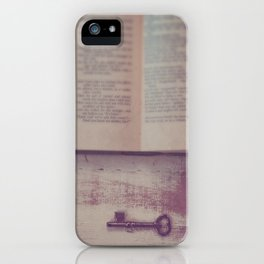 Book and Key iPhone Case