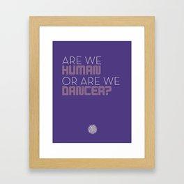 Human Dancer Framed Art Print