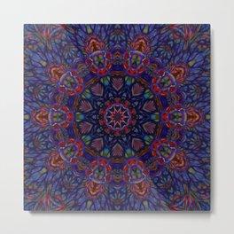 Blue Abstract Tile 2 Metal Print