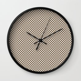Otter and White Polka Dots Wall Clock