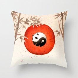 Panda yin-yang Throw Pillow