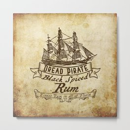 Dread Pirate Rum Metal Print
