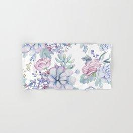 Pretty Blue Pink Succulents Garden Hand & Bath Towel