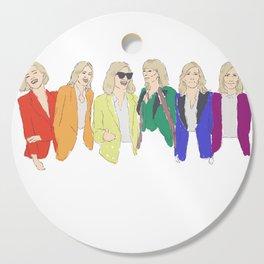 Cate Blanchett - Rainbow Pride Flag Cutting Board