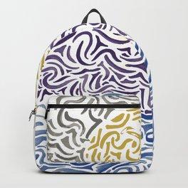 Watercolor Waves Backpack