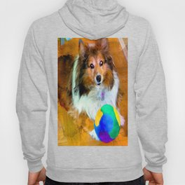 Sheltie with Ball Hoody