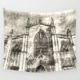 St Giles Cathedral Edinburgh Vintage Wall Tapestry