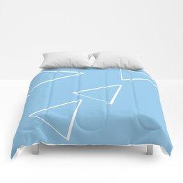 Digital triangle origami Comforters