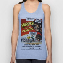 The Monster of the Campus, vintage horror movie poster Unisex Tank Top