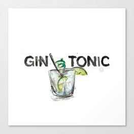 Favourite Things - Gin and Tonic Canvas Print