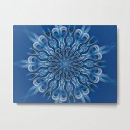 Blue Center Swirl Metal Print