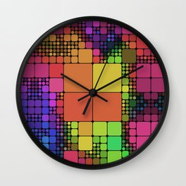 DISCO GEOMETRY  Wall Clock
